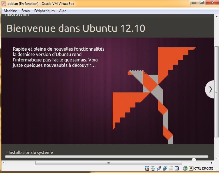 Bienvenue dans Ubuntu 12.10