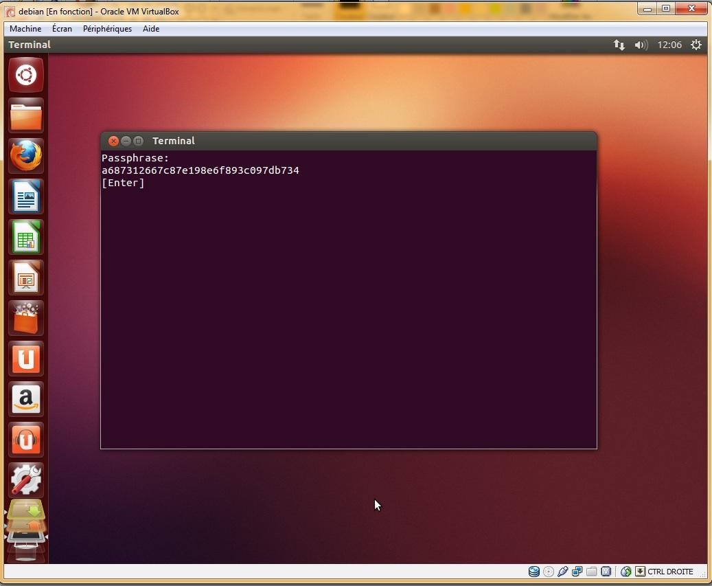 Cryptage du dossier personnel Ubuntu